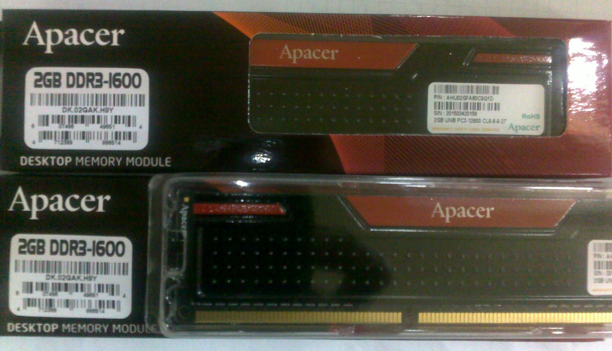 Memori ddr3 apacher black panther 2gb pc 12800  - k-galaxy.com