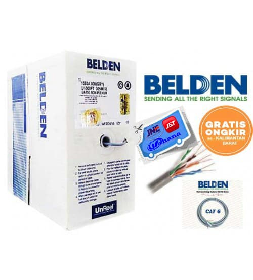 Kabel lan utp belden usa cat 6 original - k-galaxy.com