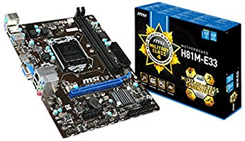 Motherboard msi h81m-e33 intel socket 1150 ddr3 - k-galaxy.com
