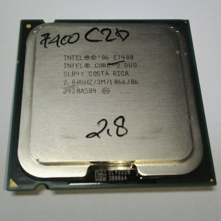 Proc intel core2duo 2,8ghz e7400 lga original tray w/o fan (1th) - k-galaxy.com