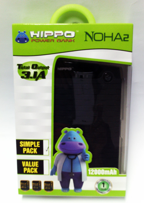 POWER BANK HIPPO 12.000 MAH NOHA2 SIMPLE PACK